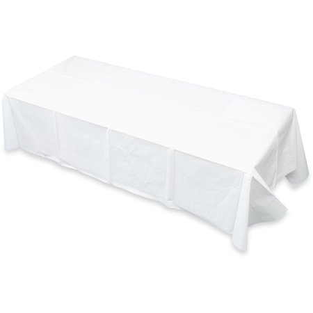 Tatco Embossed Paper Table Cover With Plastic Liner, 20ct](Paper Table Cloth)