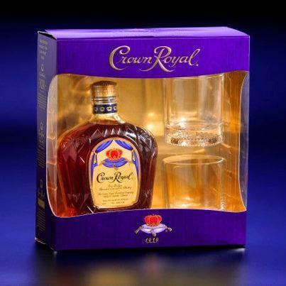Crown Royal Whiskey Gift Set, 750 mL With 2 Glasses - Walmart.com