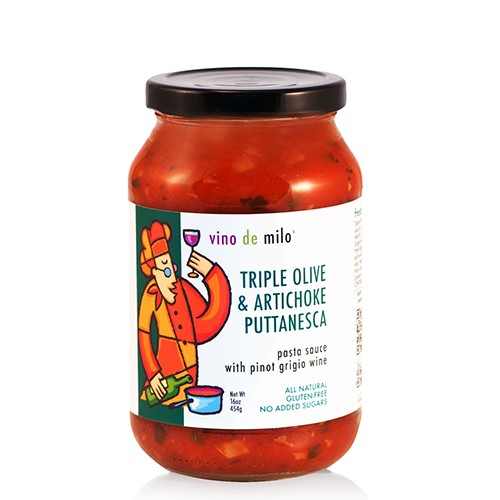 Vino de Milo No Sugar Added Pasta Sauce (16 oz) - Triple Olive & Artichoke Puttanesca