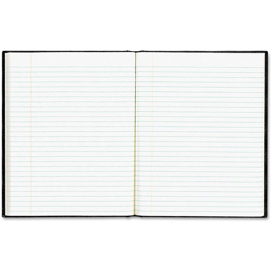 """Blueline EcoLogix Notebook, 7-1/4"""" x 9-1/4"""", 75 Sheets, College Ruled, Hard Cover, Black"""