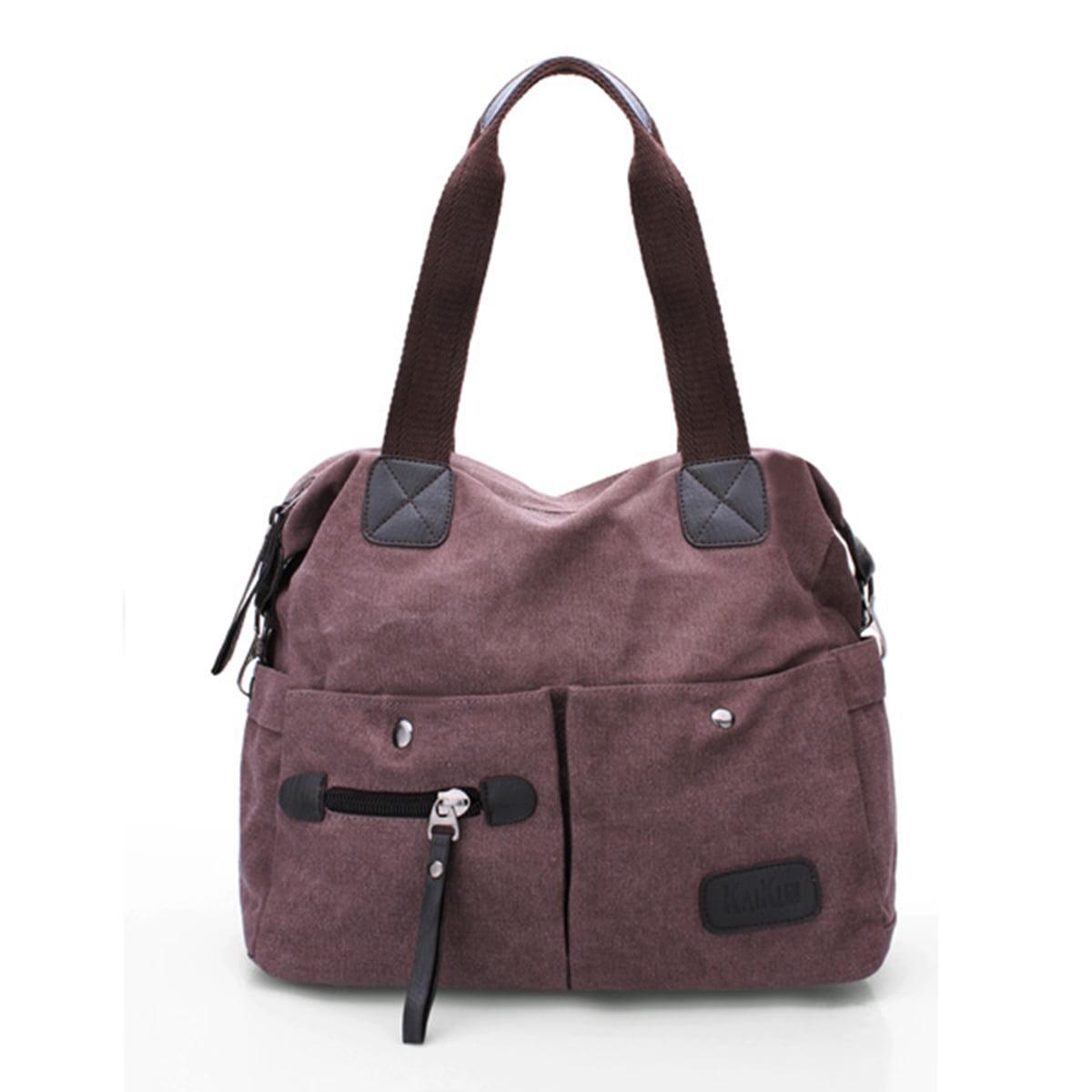 Fashion Women Canvas Zip Large Bag Tote Shoulder Messenger Handbag Cross  Body - Walmart.com 40d69a78f3bf5