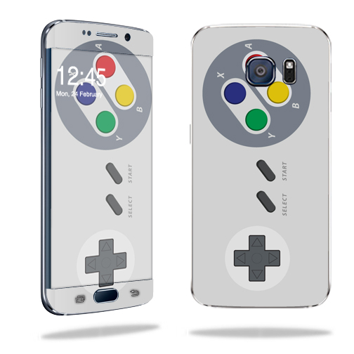 MightySkins Protective Vinyl Skin Decal for Samsung Galaxy S6 Edge wrap cover sticker skins Retro Gamer 1