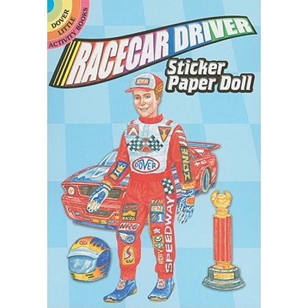 Racecar Driver Sticker Paper (Car Sticker Activity)