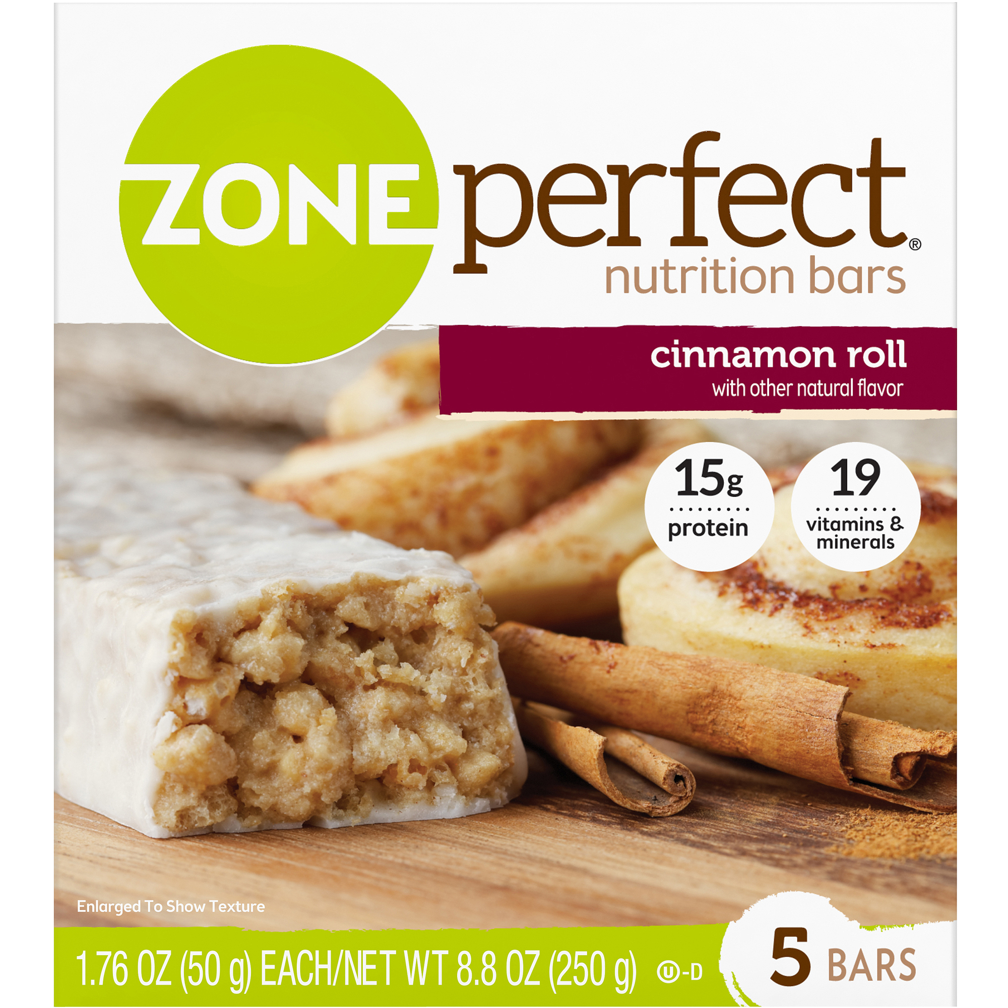 ZonePerfect Nutrition Bars, Cinnamon Roll, 5-pack