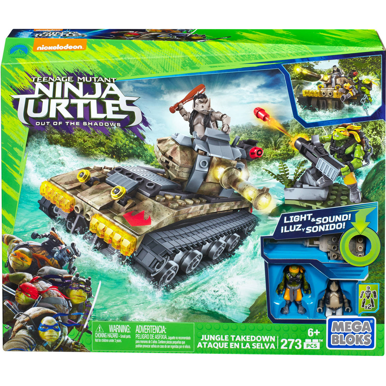 Mega Bloks Teenage Mutant Ninja Turtles Out of the Shadows Jungle Takedown by Mattel