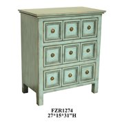 Florence Teal 3 Drawers Chest
