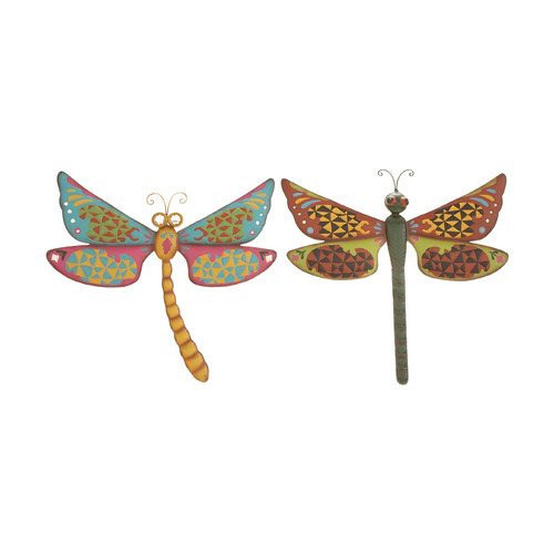 Woodland Imports 2 Piece Dragonfly Assorted Wall D cor Set by Woodland Imports