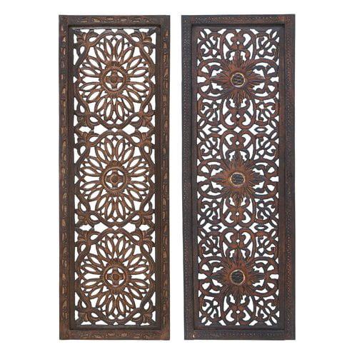 Woodland Imports 2 Piece Wood Wall Decor Set (Set of 2) by