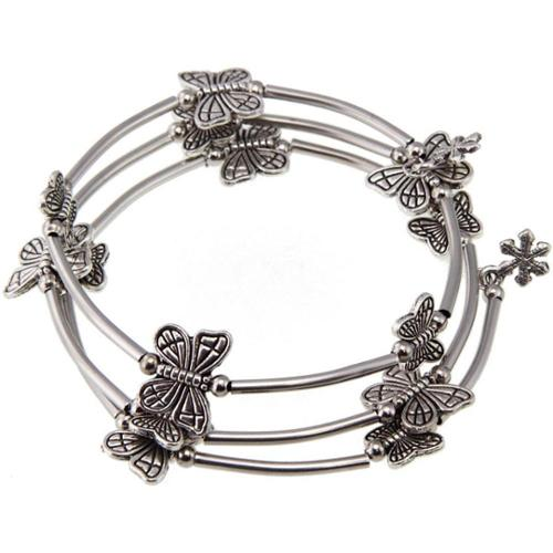 Zenses Handmade Tibetan Silver Butterfly Bangle (China)