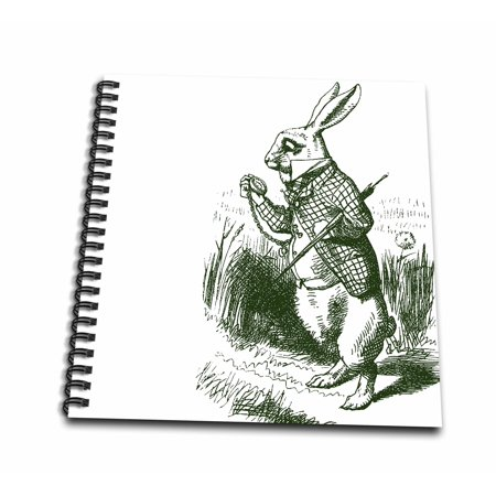 3dRose White Rabbit Late from Alice in Wonderland - Mini Notepad, 4 by 4-inch - Rabbit From Alice And Wonderland