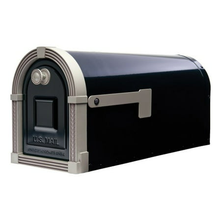 Gibraltar Mailboxes Brunswick Large Galvanized Steel Post-Mount Mailbox in