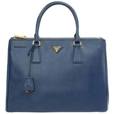 Prada Galleria Saffiano Leather Bag Model 1BA274 | Blue w/ Gold (Prada Handbag Price)