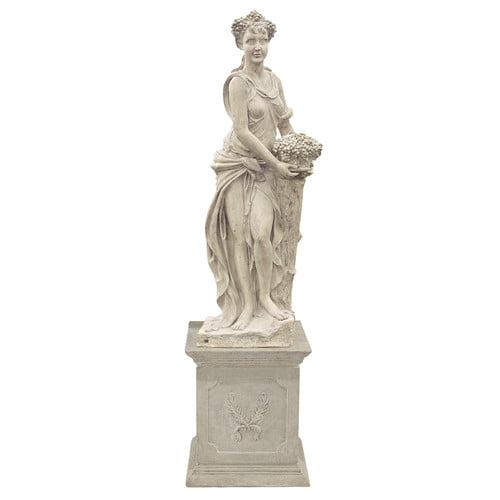 Design Toscano Goddesses of the Four Seasons Autumn Statue and Plinth Set