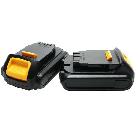 2-Pack - DeWALT DCHJ062C1 Battery Replacement - For DeWALT 20V MAX* Power Tool Battery (1500mAh, Lithium-Ion) (20v Max Dewalt Battery Packs)