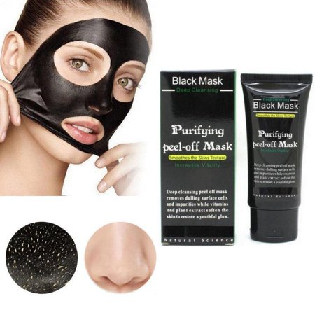 Purifying Black Peel off Mask, Charcoal Face Mask, Blackhead Remover Deep Cleanser, Acne Black Mud Face Mask (Pig Face Mask Emoji)
