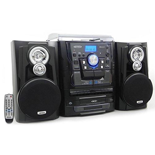 Jensen Jmc-1250 Mini Hi-fi System 10 W Rms Ipod Supported Black Cd Player, Turntable Am, Fm 2 Speaker[s] Cd-da, Mp3... by Jensen