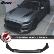 Fits 15-17 Mustang Front Bumper Lip Spoiler with Integrated Splitter OE Material