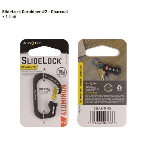 Slidelock® Carabiner Aluminum Charcoal #2 - image 1 de 1