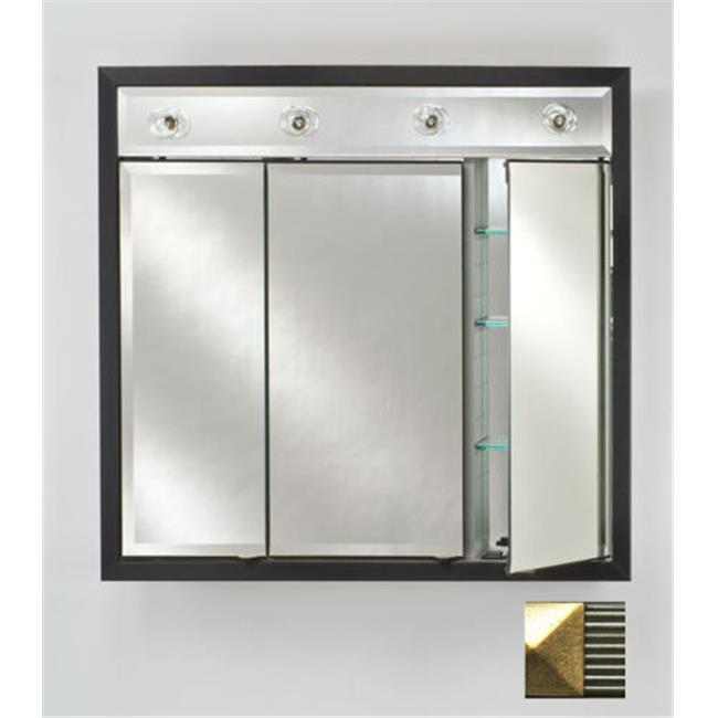 Afina Corporation TD-LC4740RMERSG 47 in.x 40 in.Recessed Contemporary Integral Lighted Triple Door - Maridian Silver-Gold - image 1 of 1