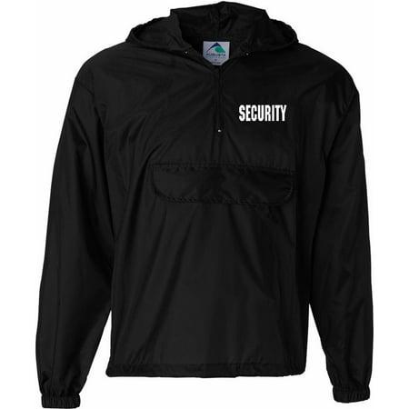 Security Windbreaker Jacket 1/2 Zip Silkscreen Left Chest & Back