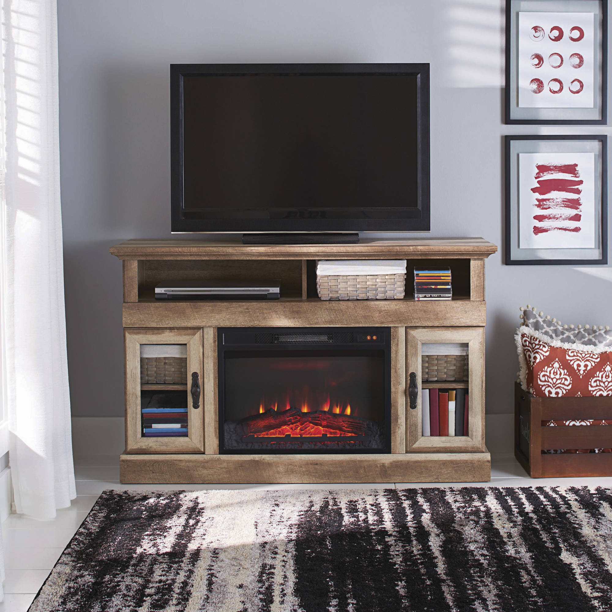 Media Console Fireplaces TV Stands - Walmart.com