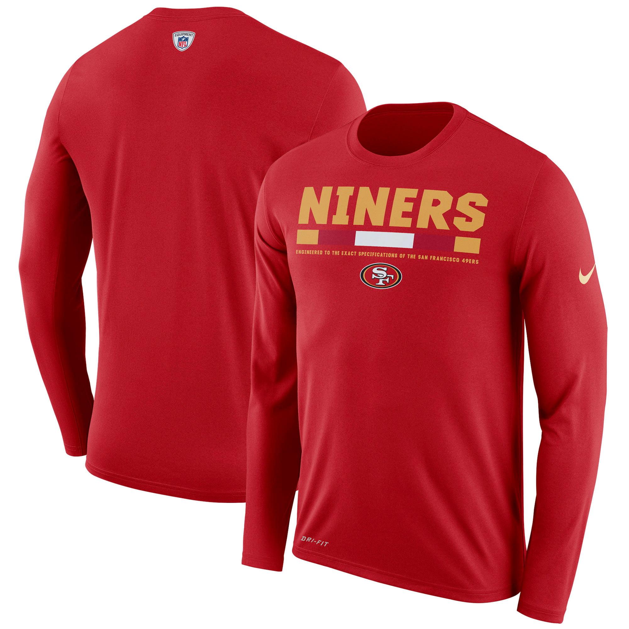 San Francisco 49ers Nike Sideline Legend Staff Performance Long Sleeve T-Shirt - Scarlet