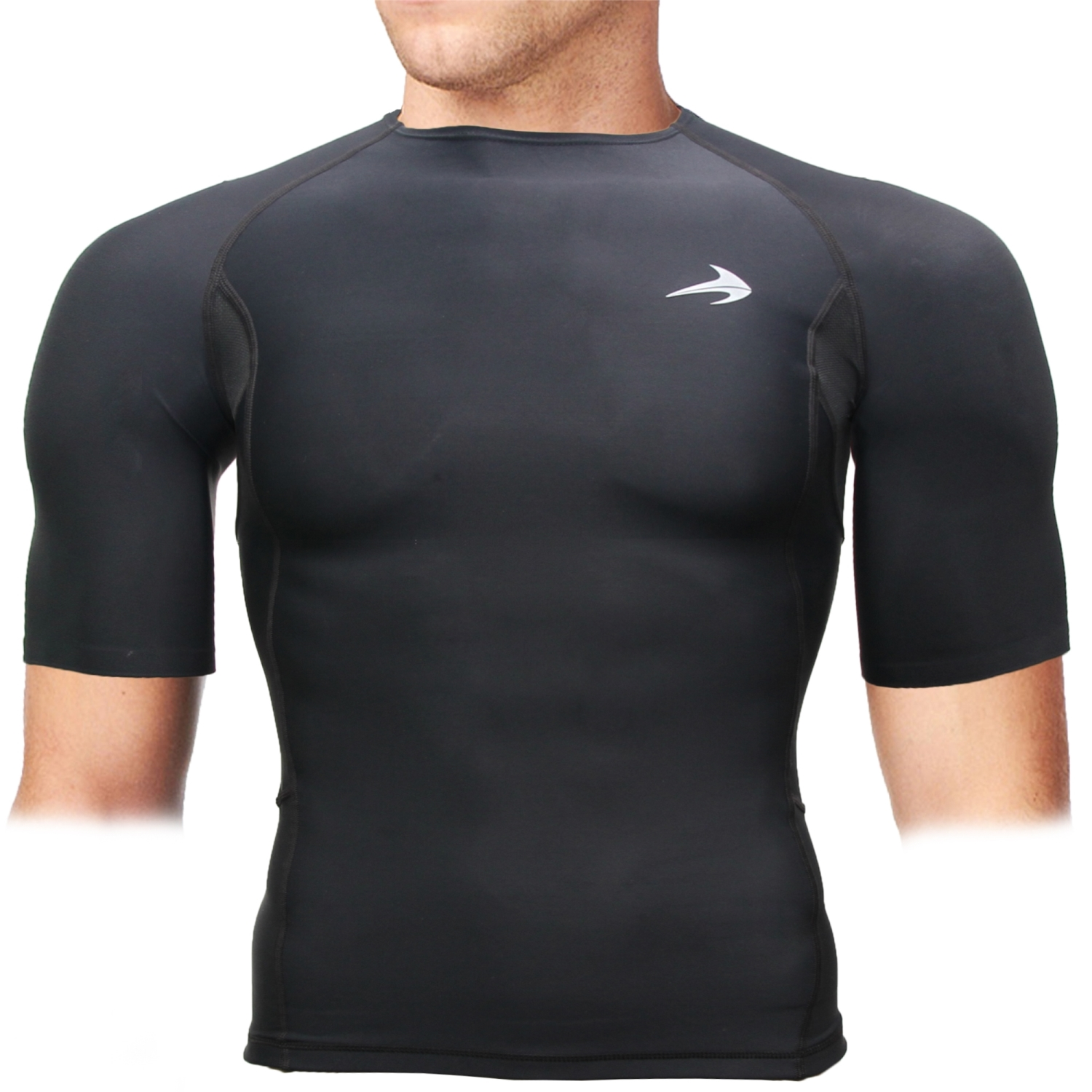 CompressionZ Black Compression Short Sleeve Shirt Top (XL) - Comfortable Fitting