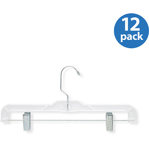 Honey Can Do 12pk Crystal Patterned Bottom Hangers, Clear