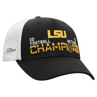 LSU Tigers Top of the World College Football Playoff 2019 National Champions Tag Adjustable Hat - Black - OSFA