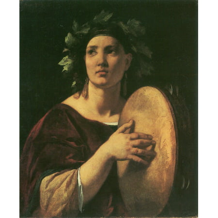 Framed Art for Your Wall Feuerbach, Anselm - Girl with Tambourine 10 x 13 Frame - Wholesale Tambourines
