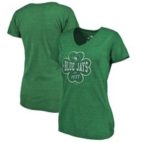 Toronto Blue Jays Fanatics Branded Women's 2018 St. Patrick's Day Emerald Isle Tri-Blend V-Neck T-Shirt - Green