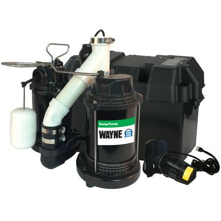 WAYNE WSS30V Combination 1/2 HP and 12-Volt Combination Sump System