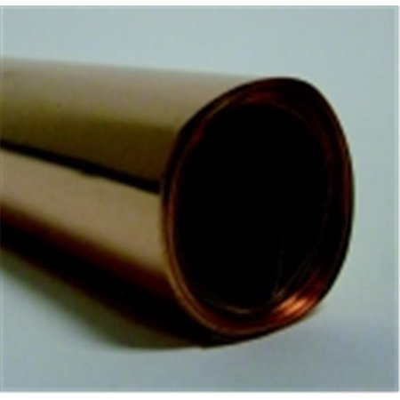 St Louis Crafts 12 in. x 5 Ft. Copper Foil Roll, 36 Gauge, Aluminum