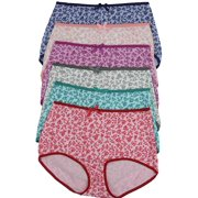 ToBeInStyle Women's Pack Of 6 High-Waisted Briefs In Multiple Styles