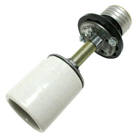 """General 00045 - Porcelain Medium Screw (E26) Base Socket Extender (Extends Bulb 3.5"""") (4.5IN MED SKT EXTENDER)"""