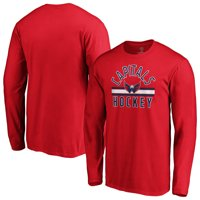 Washington Capitals Fanatics Branded Standard Arch Stripe Long Sleeve T-Shirt - Red