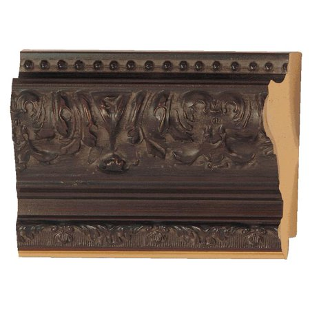 Picture Frame Moulding (Wood) - Ornate Mahogany Finish - 3.5\