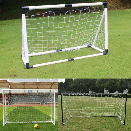 6x4 ft Portable Soccer Goal Target Net, TSV Football Goal Steel Post Netting Sports Training Net Kids Soccer Goals for Backyard, Goal Post for Soccer Match -