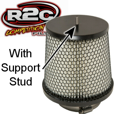 R2C Cleanable Off Road Series Tapered Conical Air Filter 3.25 Inch Outlet 6.5 Base 3.44 Top 7.5 Tall