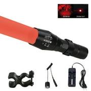 Red/Green LED Predator Varmint Hunting Light Zoom Flashlight US Plug