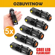 Best Aa Led Flashlights - 5x CREE Q5 Bright LED Zoomable Focus Flashlight Review