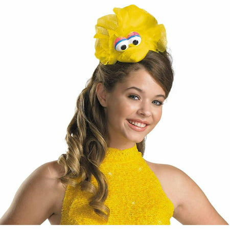 Sesame Street Big Bird Headband Adult Halloween Costume Accessory (Bird Costume For Adults)