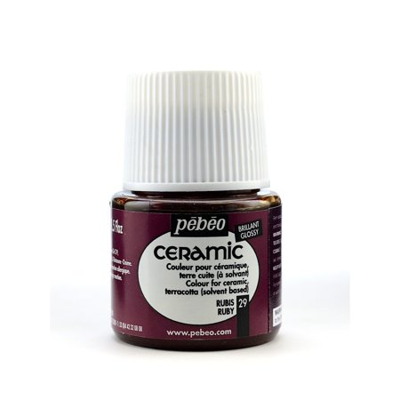 Pebeo  Air-dry Ruby Ceramic China Paint (Pack of 3)