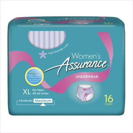 Assurance Incontinence Underwear For Women  Maximum  Xl  16 Ct