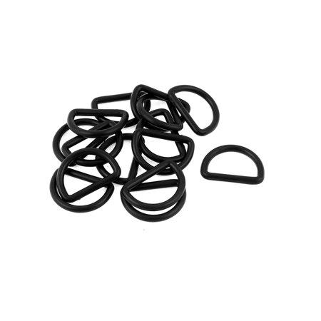 15 Pcs 25mm Black Plastic Backpack Handbag D Ring Hooks D Shaped - Plastic Handbags