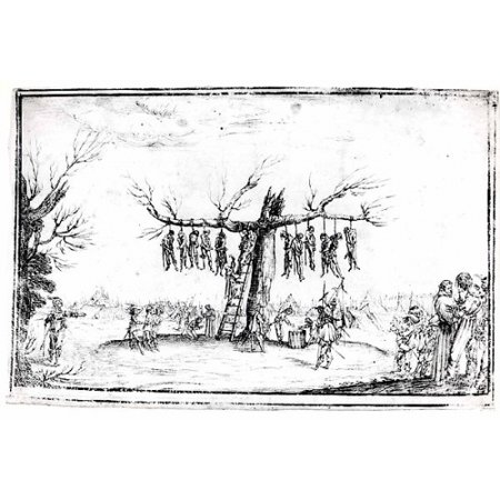 The Hangmans Tree Poster Print By Imitator Of Jacques Callot  French 1592   1635   18 X 24