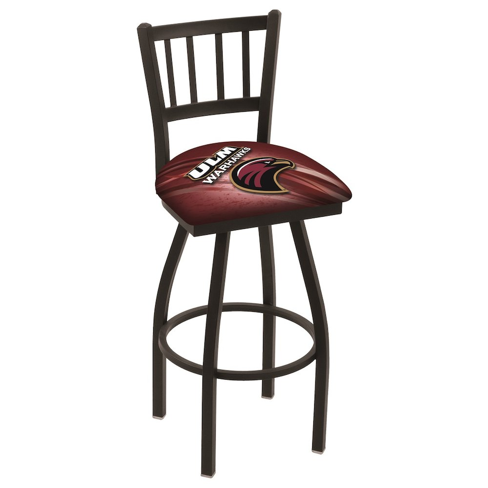 "L018 - 36"" Black Wrinkle Louisiana-Monroe Swivel Bar Stool with Jailhouse Style Back by Holland Bar Stool Co."