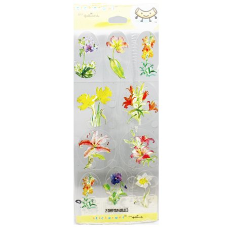 Inbloom Stickers (Hallmark Stickeroni Gorgeous Full Bloom Flowers Sticker Set (20)