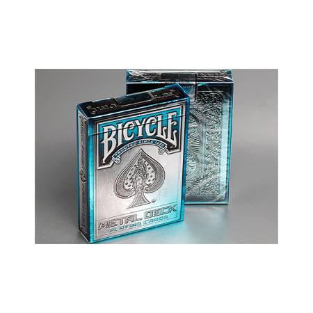 Bicycle Metal Rider Back Playing Cards (Blue) by Collectable Playing Cards