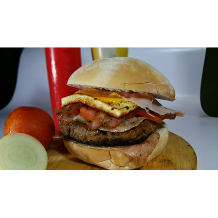 Laminated Poster Fast Food Burger Meat Bread Poster Print 24 X 36